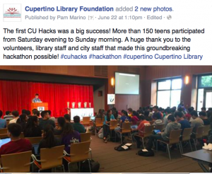Cupertino Library Foundation CU Hacks