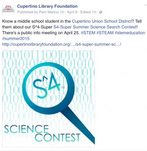 S^4 Contest Social Media Example